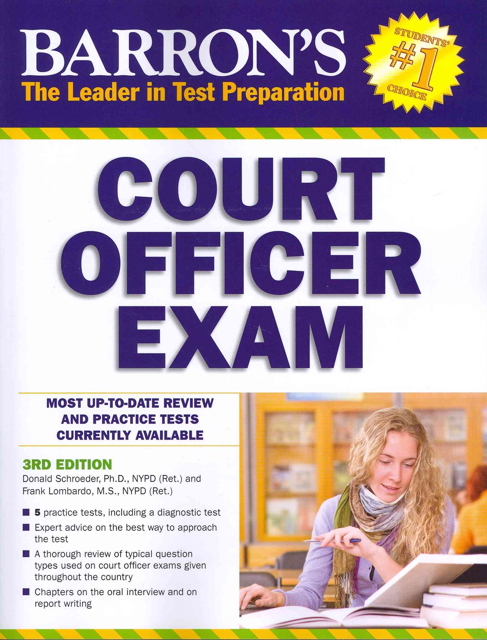 Barron's Court Officer Exam By Schroeder, Donald J., Ph.d./ Lombardo, Frank